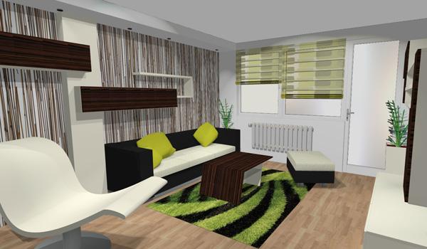 Le Mar studio - vizualizace obývací pokoj